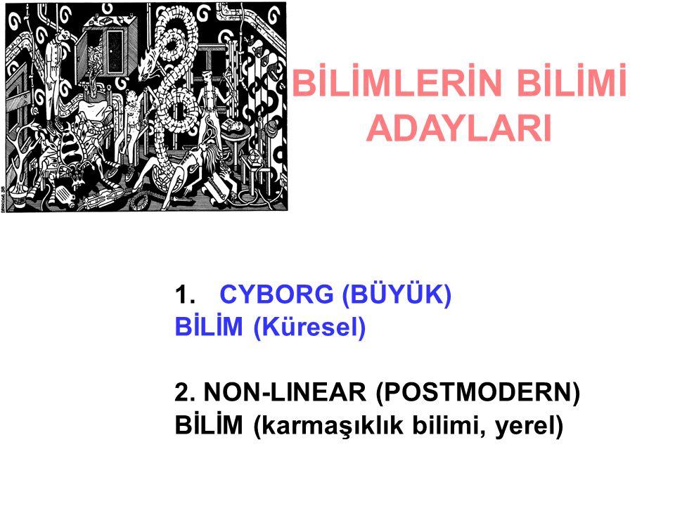 BİLİMLERİN BİLİMİ ADAYLARI 1.CYBORG (BÜYÜK) BİLİM (Küresel) 2.