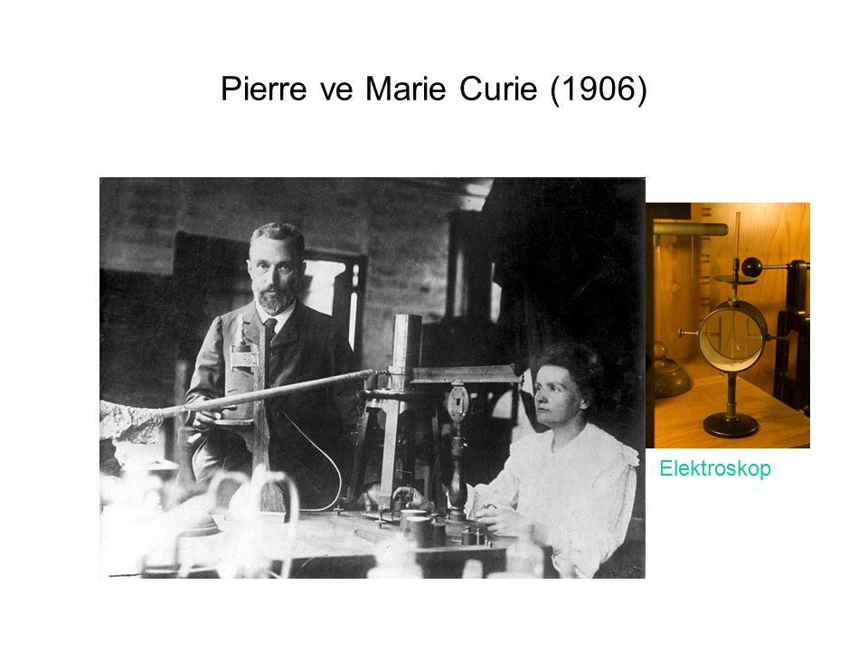 Pierre ve Marie Curie (1906) Elektroskop