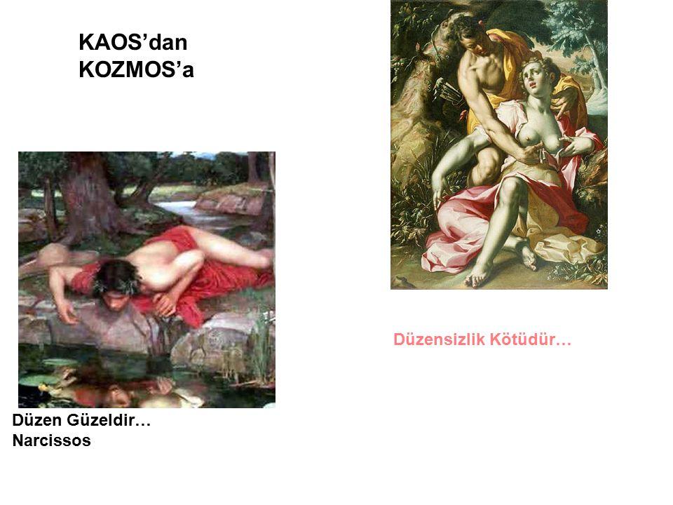 Düzen Güzeldir… Narcissos KAOS'dan KOZMOS'a Düzensizlik Kötüdür…
