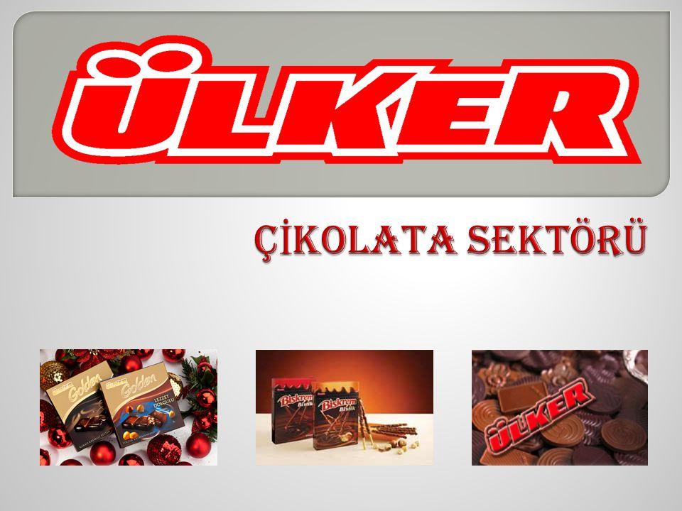 ÜLKER İ N Ç İ KOLATA PAZARINDAK İ KONUMU 1-Ülker genel çikolata pazarında %65, ikramlık çikolata pazarında da %41 pazar payı ile lider konumundadır.