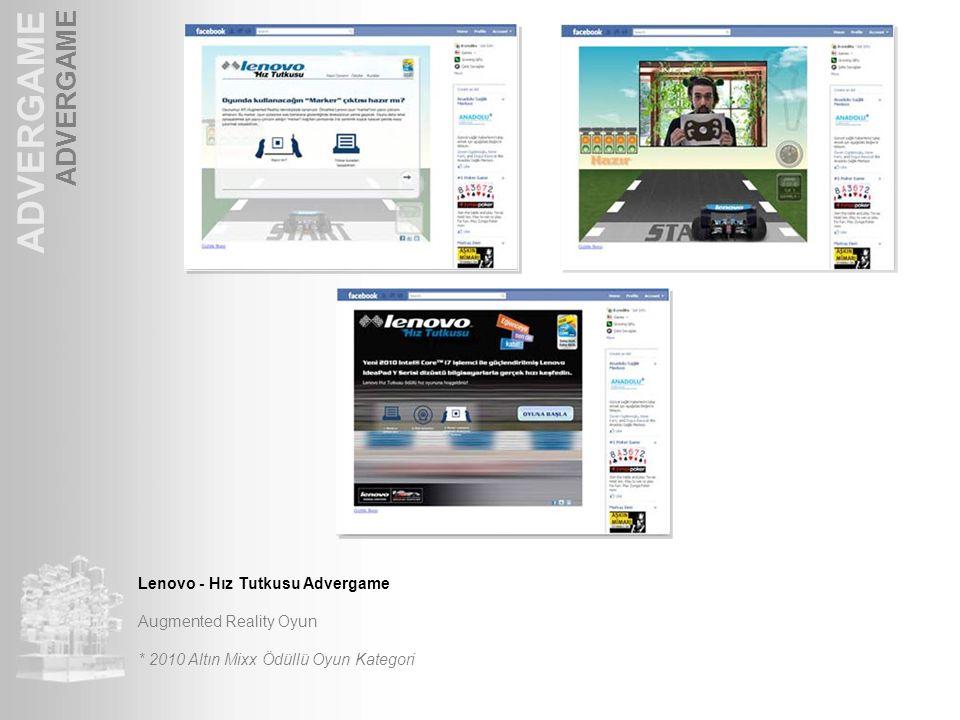 ADVERGAME Lenovo - Hız Tutkusu Advergame Augmented Reality Oyun * 2010 Altın Mixx Ödüllü Oyun Kategori