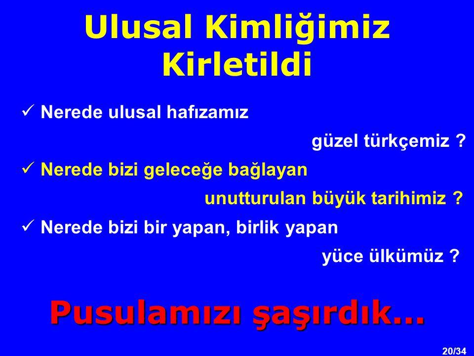20/34 Nerede ulusal hafızamız güzel türkçemiz .