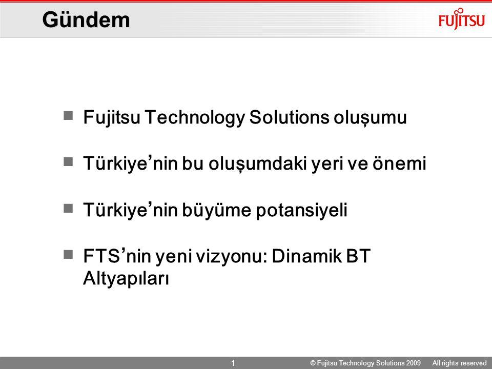 © Fujitsu Technology Solutions 2009 All rights reserved 22 © Fujitsu Technology Solutions 2009 All rights reserved Çevreci BT ' de Öncülüğe Devam Mobil, ev, ofis ve veri merkezleri için komple çevresel ürünler üreten ilk BT üreticisiyiz.