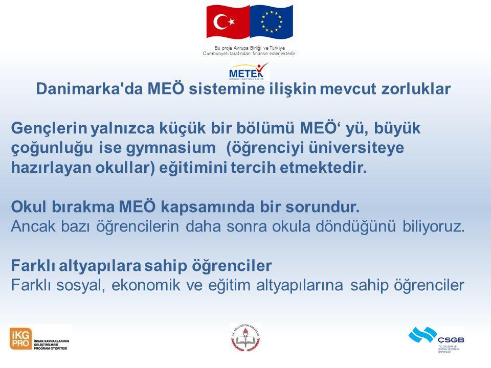 Bu proje Avrupa Birliği ve Türkiye Cumhuriyeti tarafından finanse edilmektedir. Danimarka'da MEÖ sistemine ilişkin mevcut zorluklar Gençlerin yalnızca