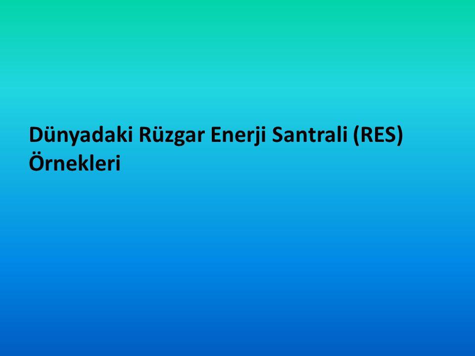 Dünyadaki Rüzgar Enerji Santrali (RES) Örnekleri