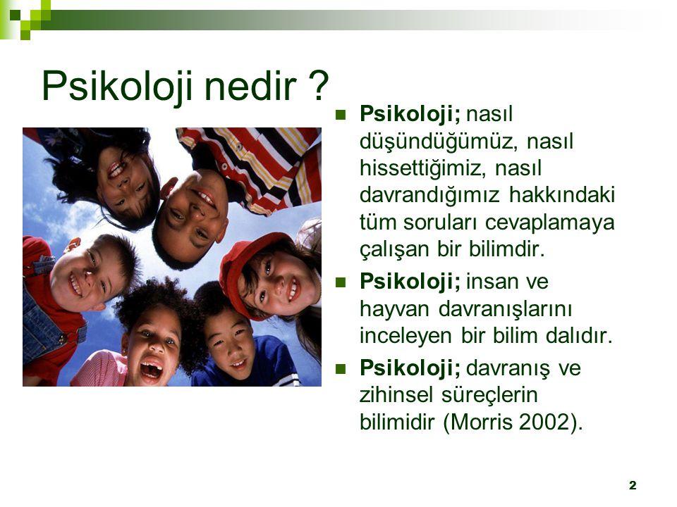 13 Gelişim Psikolojisi ve Eğitim Eğitimin esas hedefi insandır.
