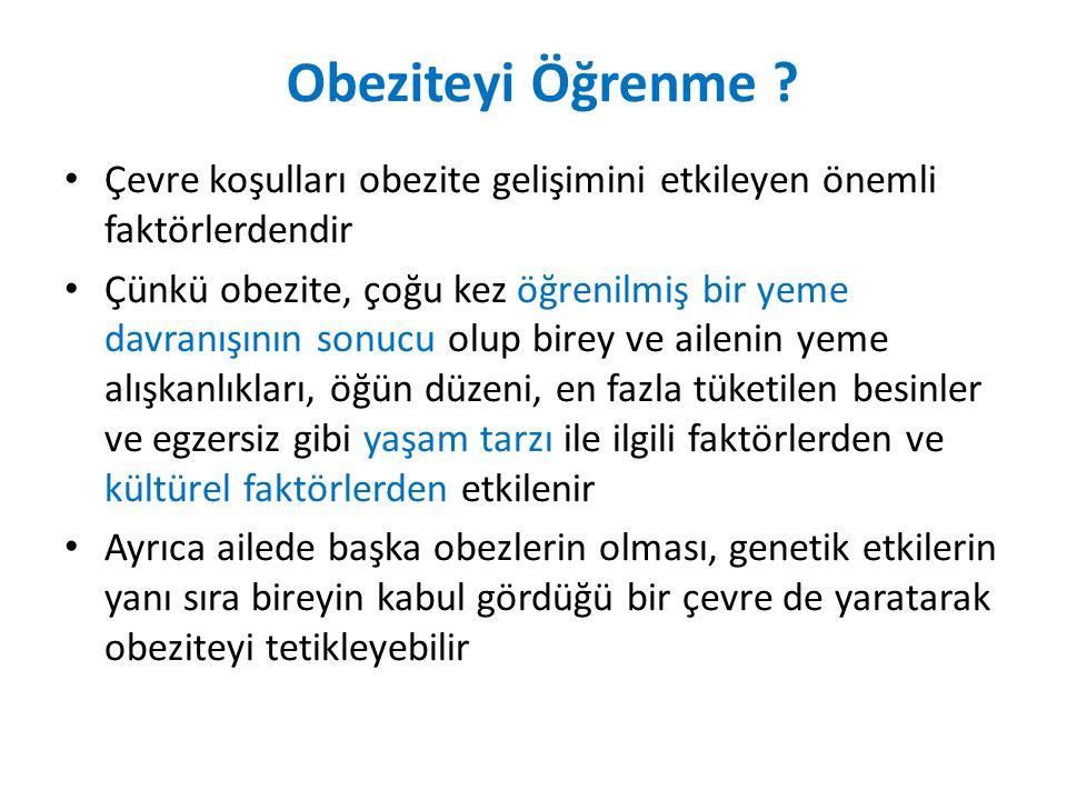Obeziteyi Öğrenme .