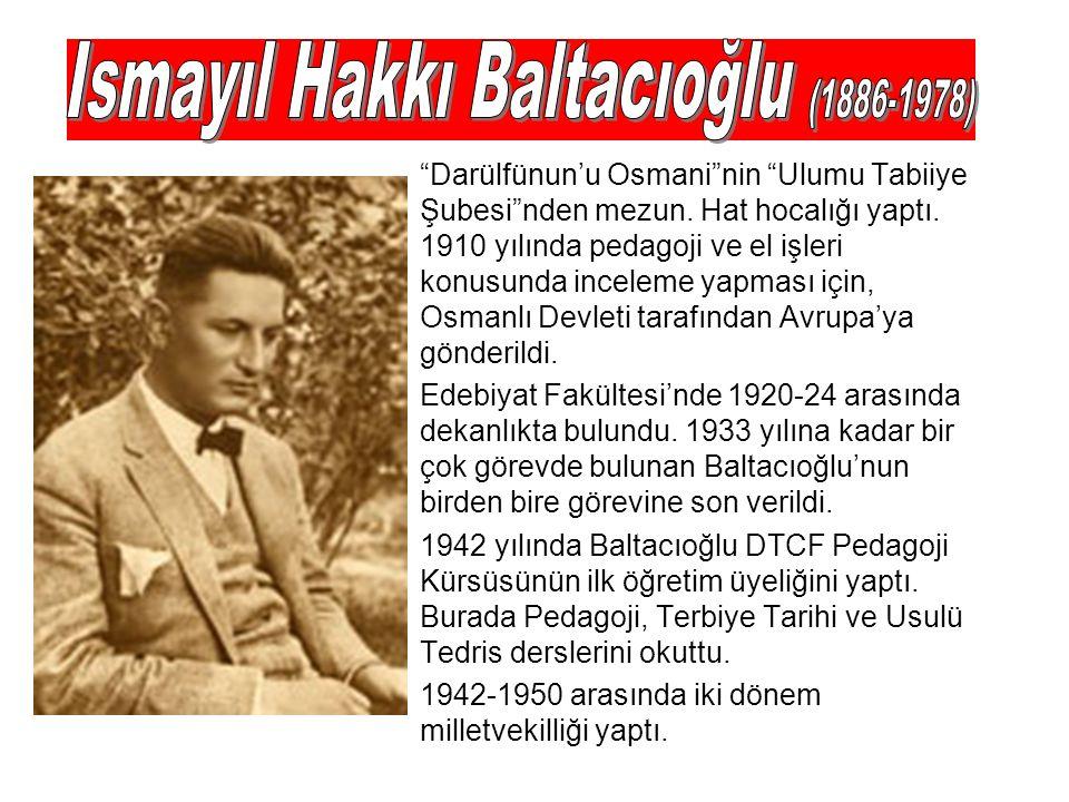 Darülfünun'u Osmani nin Ulumu Tabiiye Şubesi nden mezun.