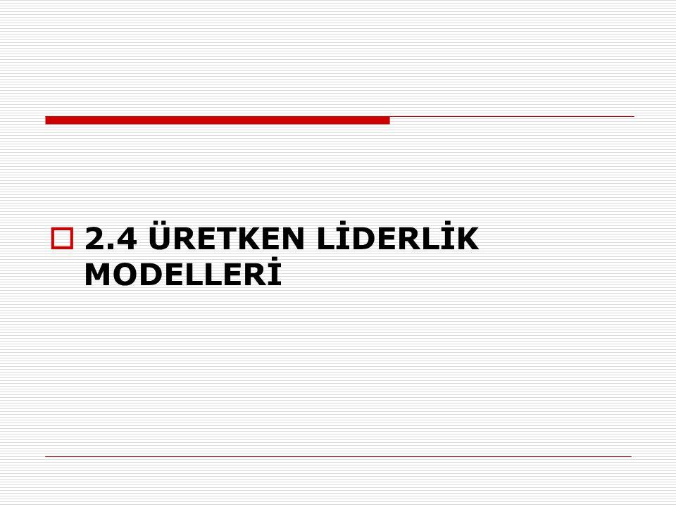  2.4 ÜRETKEN LİDERLİK MODELLERİ