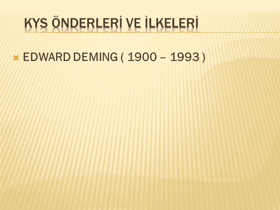  EDWARD DEMING ( 1900 – 1993 )