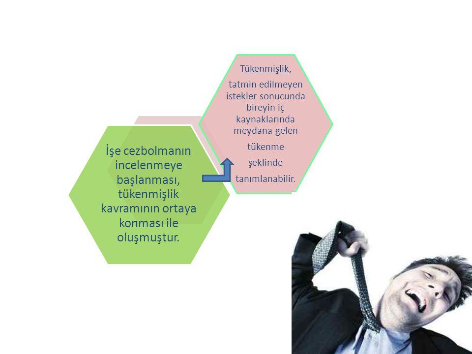 İşe cezbolmanın incelenmeye başlanması, tükenmişlik kavramının ortaya konması ile oluşmuştur. Tükenmişlik, tatmin edilmeyen istekler sonucunda bireyin