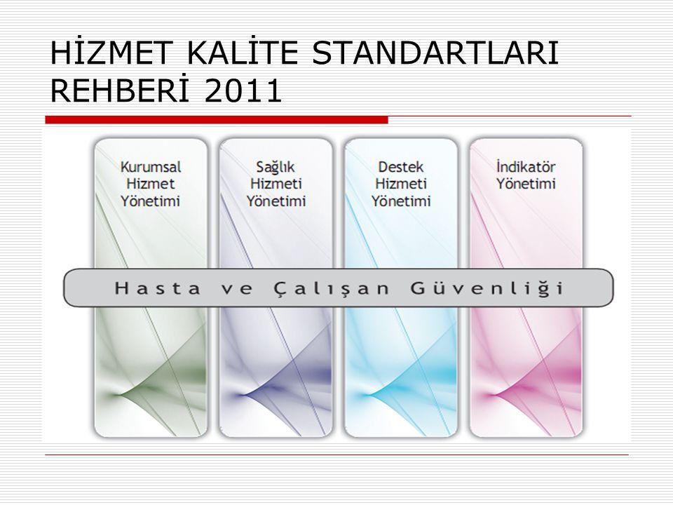 HİZMET KALİTE STANDARTLARI REHBERİ 2011