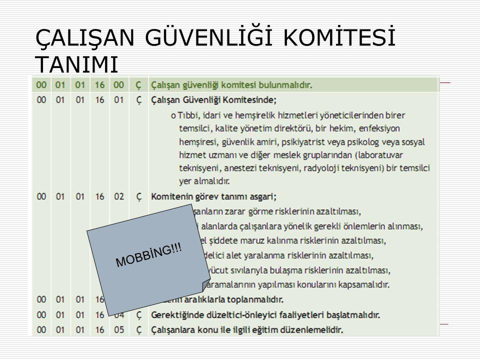 ÇALIŞAN GÜVENLİĞİ KOMİTESİ TANIMI MOBBİNG!!!