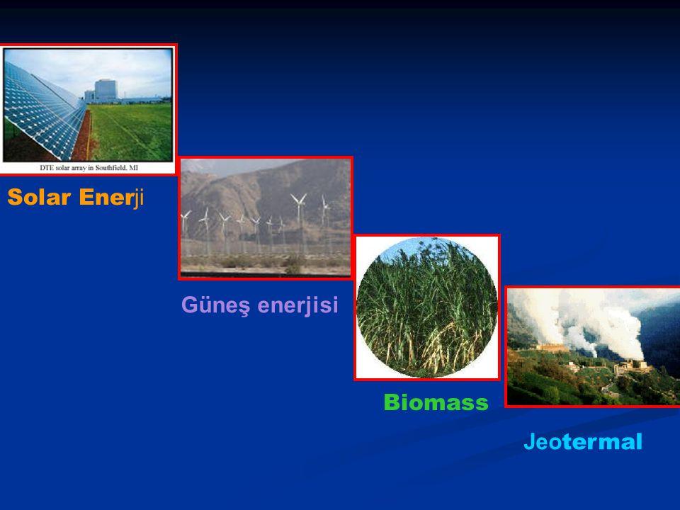 Solar Ener ji Güneş enerjisi Biomass Jeo termal