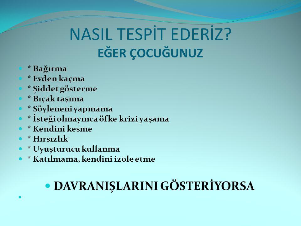 NASIL TESPİT EDERİZ.