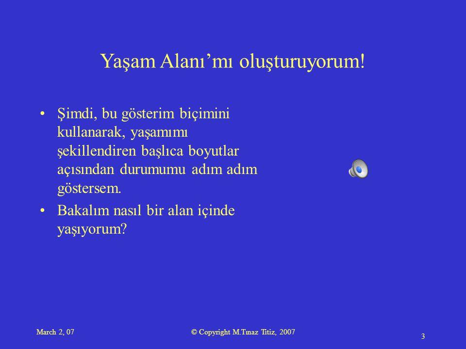 March 2, 07 © Copyright M.Tınaz Titiz, 2007 4 1 2 3 4 5 6 7 8 9 10 11 12 13 14 15 16 17 18 19 20 21 23 22 24 25 28 29 34 35 26 27 30 31 33 36 38 37 32 Doğru sorular sorabilmek