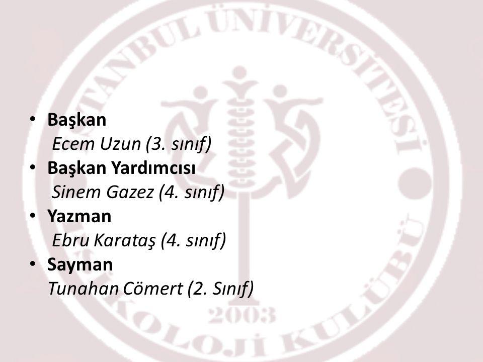 Başkan Ecem Uzun (3.sınıf) Başkan Yardımcısı Sinem Gazez (4.