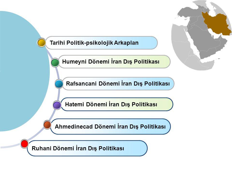 Ahmedinecad Dönemi İran Dış Politikası Hatemi Dönemi İran Dış Politikası Rafsancani Dönemi İran Dış Politikası Humeyni Dönemi İran Dış Politikası Tarihi Politik-psikolojik Arkaplan Ruhani Dönemi İran Dış Politikası
