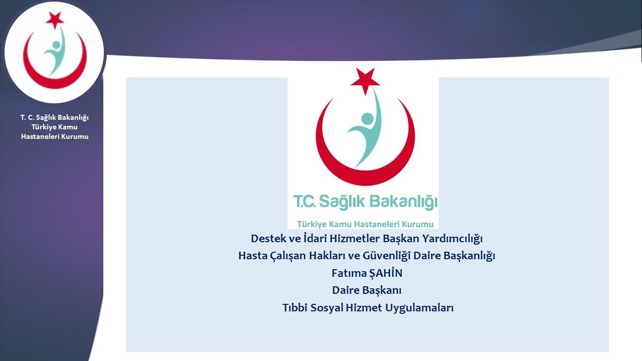 Destek ve İdari Hizmetler Başkan Yardımcılığı Hasta Çalışan Hakları ve Güvenliği Daire Başkanlığı Fatıma ŞAHİN Daire Başkanı Tıbbi Sosyal Hizmet Uygul