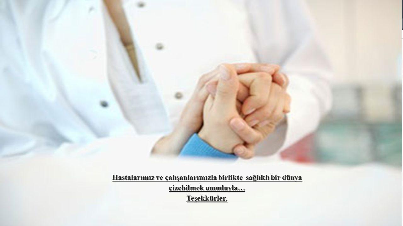 Hastalarımız ve çalışanlarımızla birlikte sağlıklı bir dünya çizebilmek umuduyla… Teşekkürler.