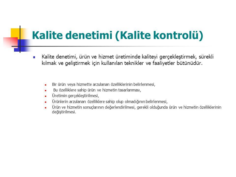Kalite güvencesi Kalite güvencesi, bir ürün ya da hizmetin, daha önceden belirlenmiş gereklilikleri karşılaması, bu yönde güven telkin etmesi için gerekli olan planlı ve sistematik faaliyetler olarak tanımlanmaktadır.