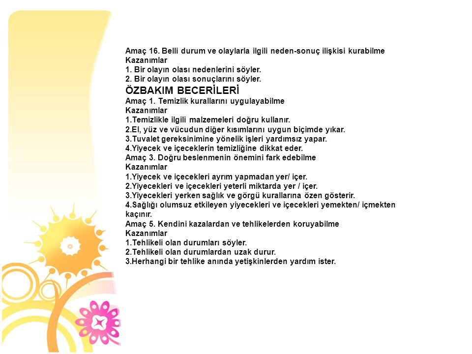 - SİYAH RENGİ TANIMA VE DİĞER ŞEKİLLERDEN AYIRT ETME - 1-3 ARASI NESNE RAKAM EŞLEŞTİRME - 1-3 ARASI RAKAMLARI TANIMA - YILDIZ ŞEKLİNİ TANIMA VE DİĞER ŞEKİLLERDEN AYIRT ETME - KARE ŞEKLİNİ TANIMA VE DİĞER ŞEKİLLERDEN AYIRT ETME - ALTINDA- ÜSTÜNDE - İÇİNDE – DIŞINDA - SESSİZ- GÜRÜLTÜLÜ - SERT- YUMUŞAK - VAR- YOK - ESKİ – YENİ - KIŞ MEVSİMİ VE ÖZELLİKLERİ