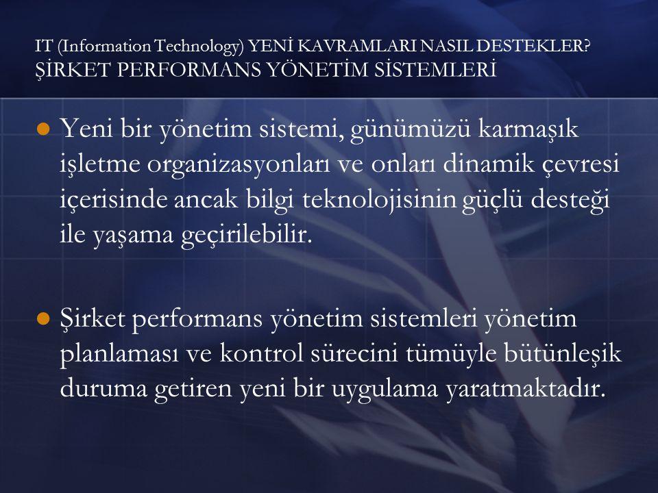 IT (Information Technology) YENİ KAVRAMLARI NASIL DESTEKLER.