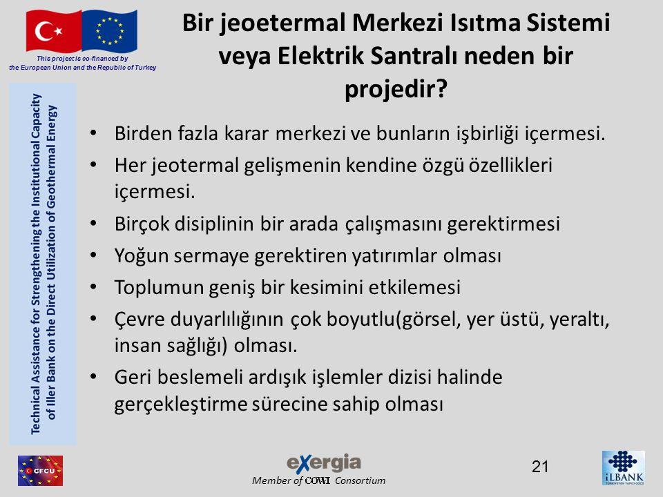 Member of Consortium This project is co-financed by the European Union and the Republic of Turkey Bir jeoetermal Merkezi Isıtma Sistemi veya Elektrik Santralı neden bir projedir.