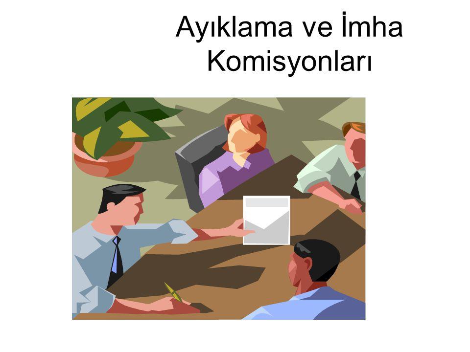 Ayıklama ve İmha Komisyonları