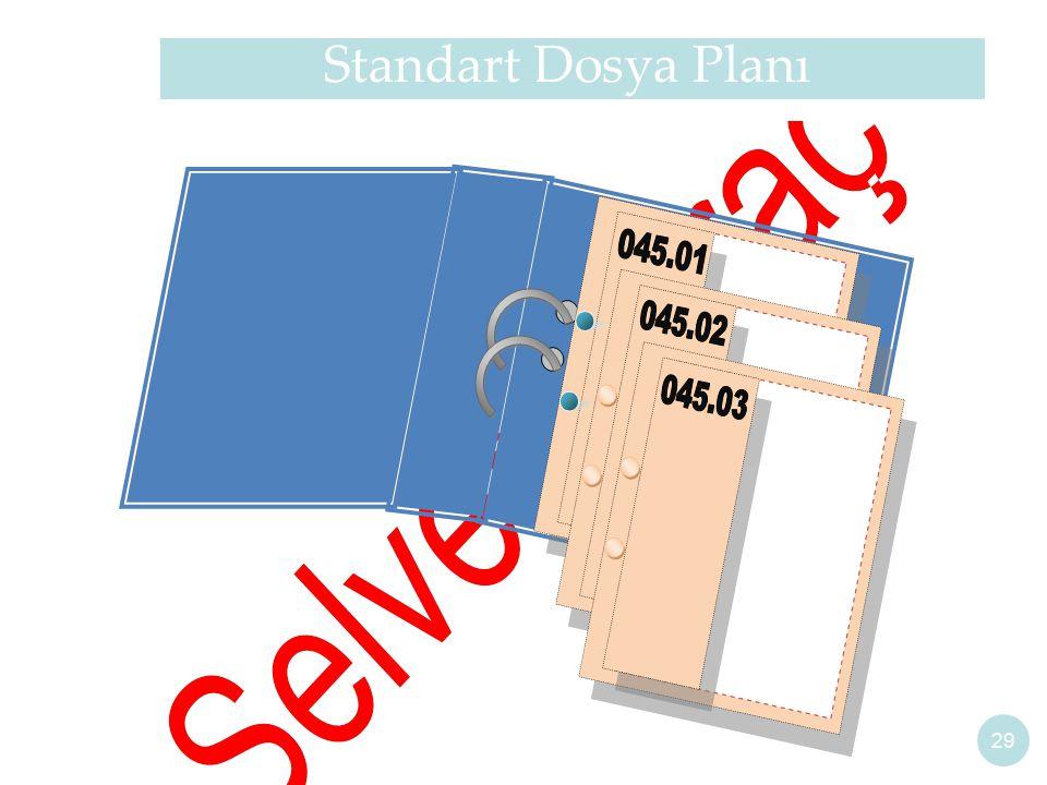 29 Standart Dosya Planı