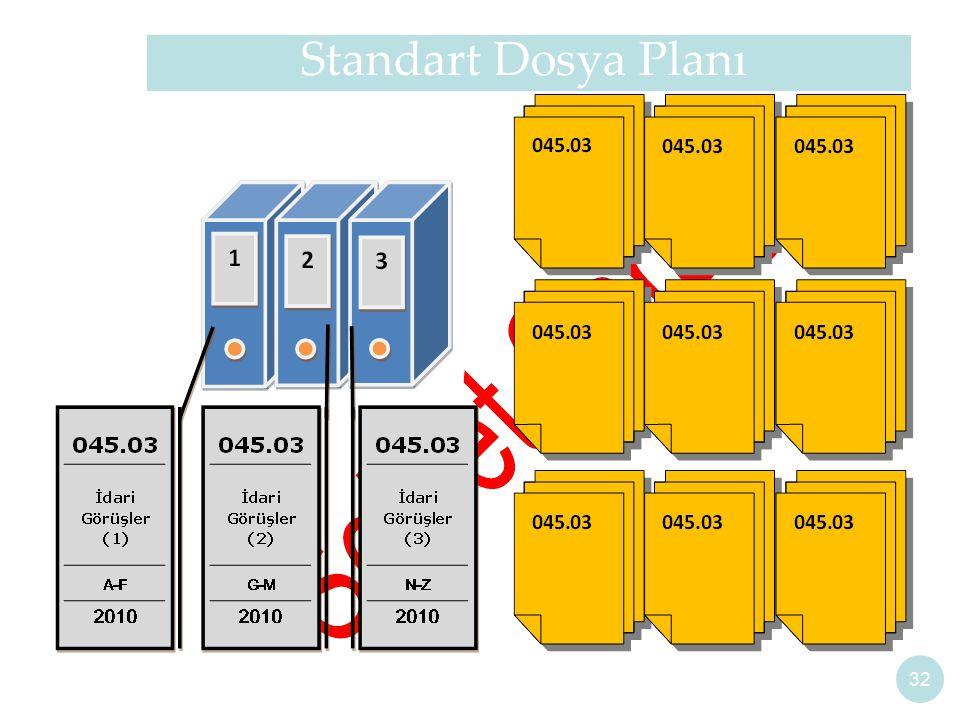 32 Standart Dosya Planı