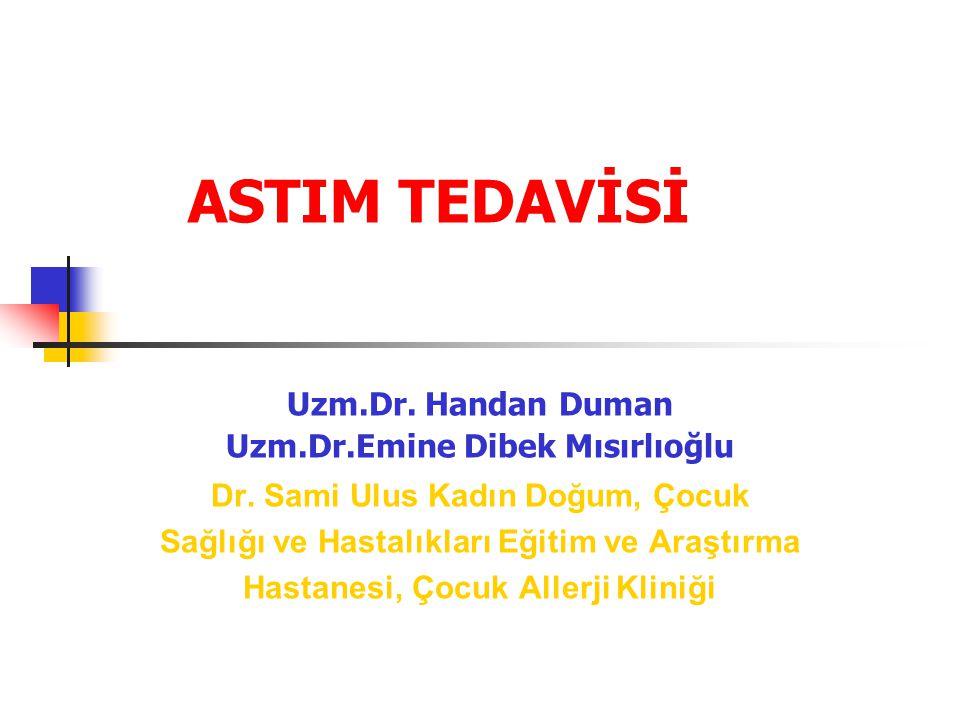 ASTIM TEDAVİSİ Uzm.Dr. Handan Duman Uzm.Dr.Emine Dibek Mısırlıoğlu Dr. Sami Ulus Kadın Doğum, Çocuk Sağlığı ve Hastalıkları Eğitim ve Araştırma Hastan