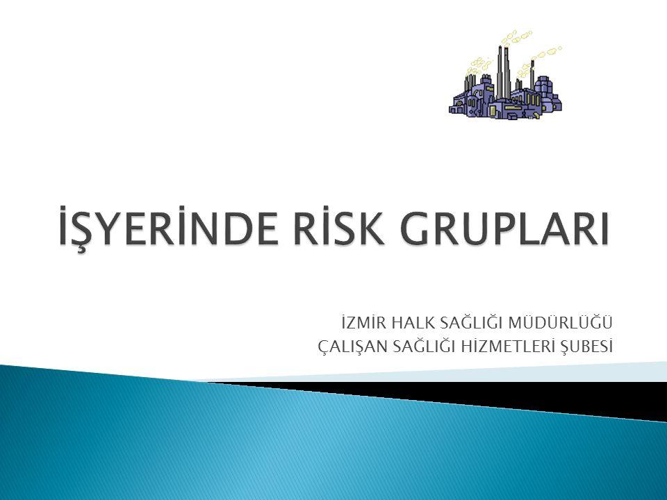 Dersin amacı Bu dersin sonunda katılımcılar İşyerlerindeki riskli çalışanlar hakkında bilgi edineceklerdir.