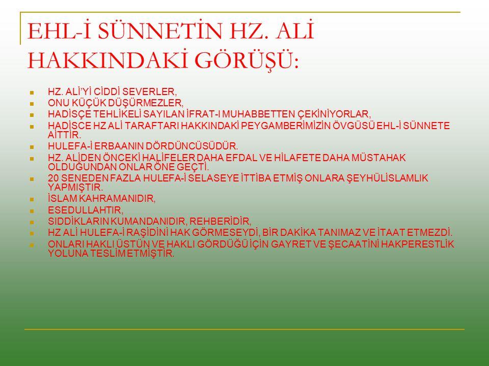 EHL-İ SÜNNET ALEVİLERDEN ZİYADE HZ.
