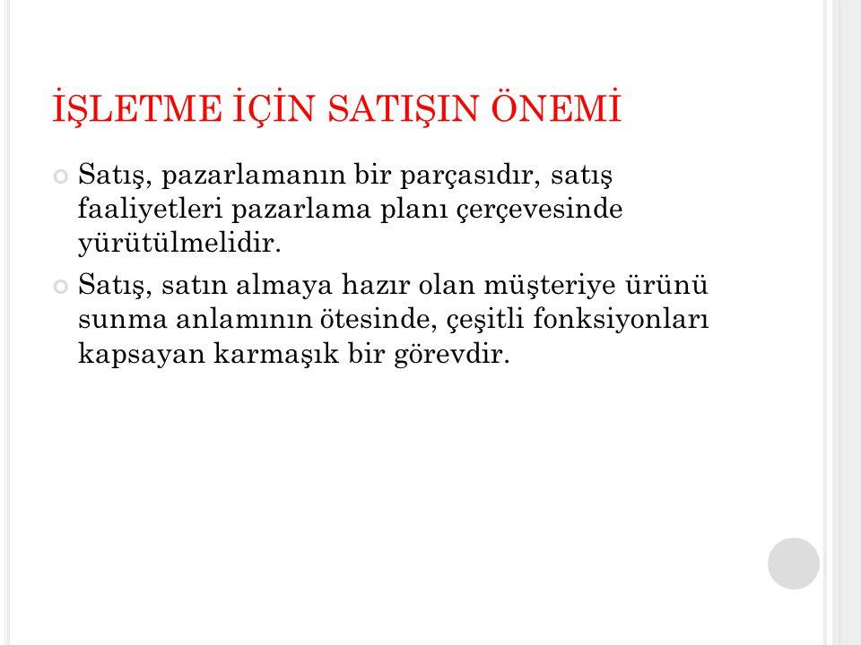 KİŞİSEL SATIŞ NEDEN ÖNEMLİ.