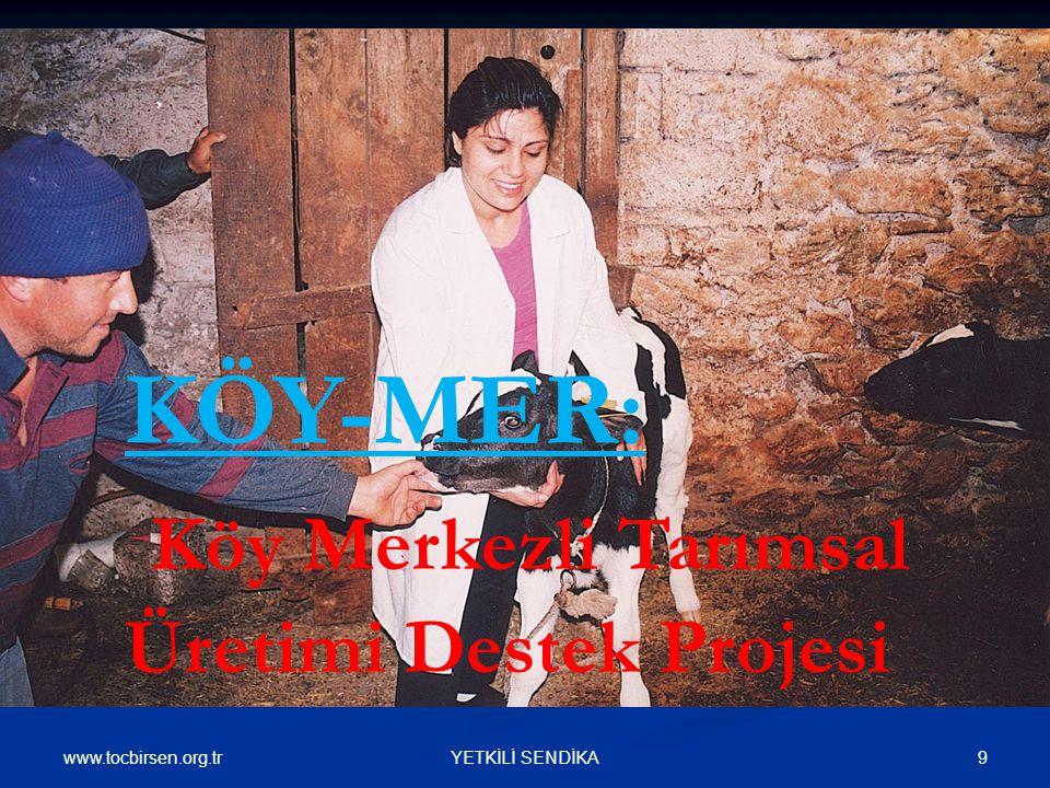 www.tocbirsen.org.tr 9YETKİLİ SENDİKA KÖY-MER: Köy Merkezli Tarımsal Üretimi Destek Projesi