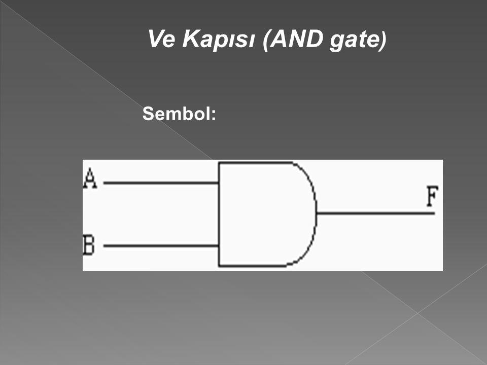 Ve Kapısı (AND gate ) Sembol: