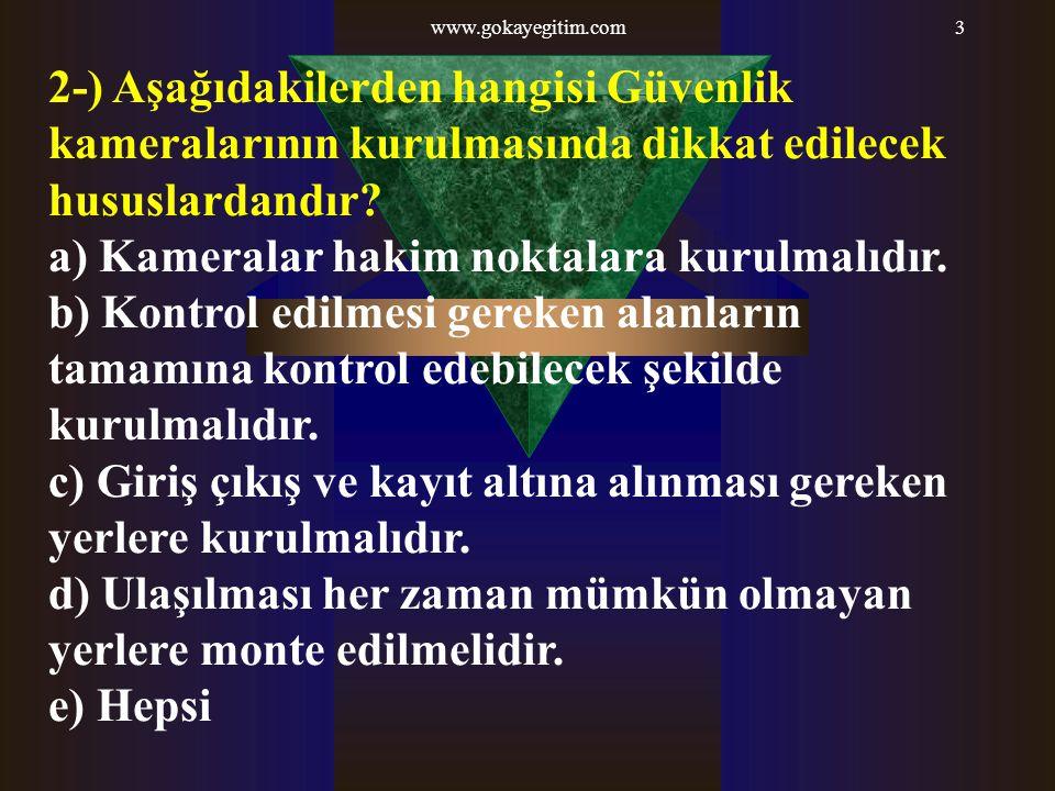 www.gokayegitim.com124 21-) Fişeklerde bulunan alev kanalının görev nedir.