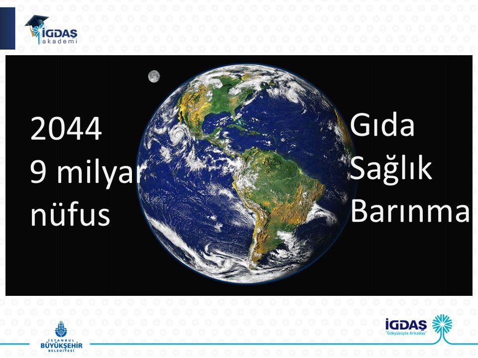 2044 9 milyar nüfus Gıda Sağlık Barınma