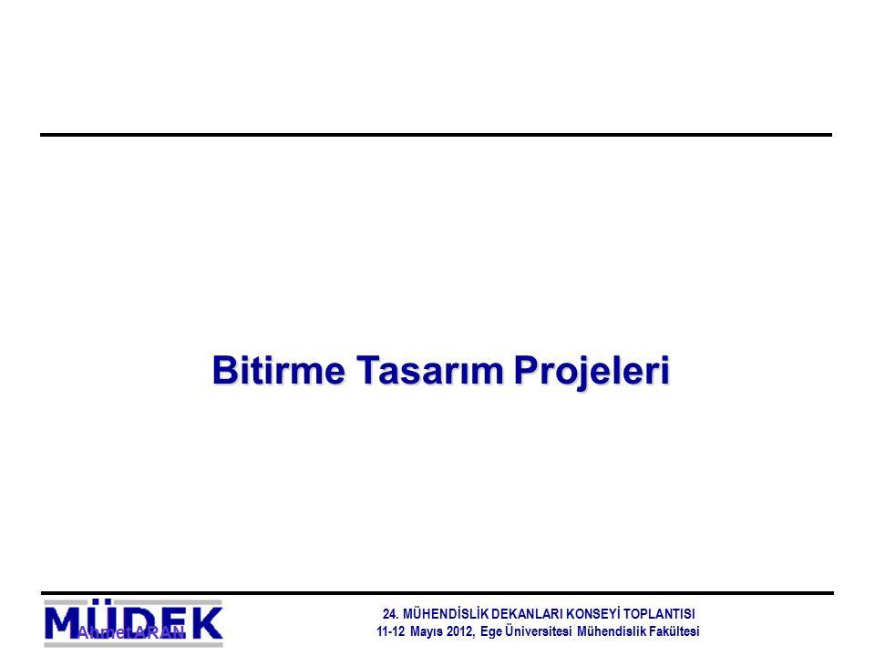 Ahmet ARAN Bitirme Tasarım Projeleri 24. MÜHENDİSLİK DEKANLARI KONSEYİ TOPLANTISI 11-12 Mayıs 2012, Ege Üniversitesi Mühendislik Fakültesi