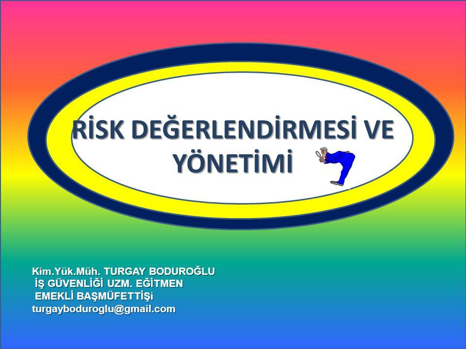 Kabul Edilebilir Risk: Tahammül edebileceği düzeye indirilmiş risk. KAVRAMLAR