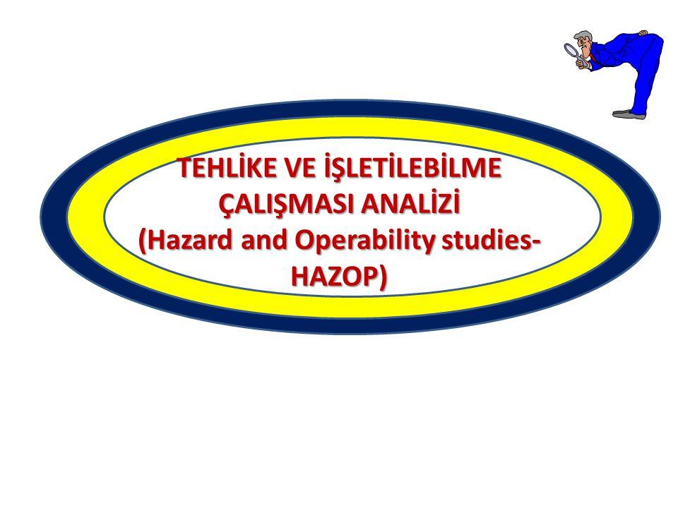 TEHLİKE VE İŞLETİLEBİLME ÇALIŞMASI ANALİZİ (Hazard and Operability studies- HAZOP)