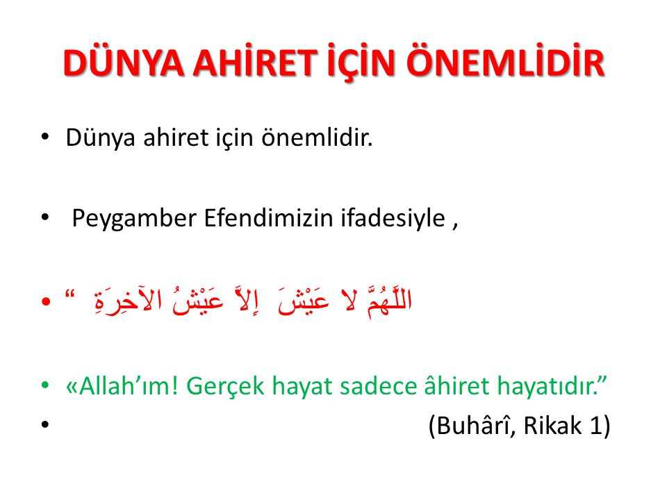 SABIR ETMEK İMTİHANI KAZANMAKTIR Resulüm.