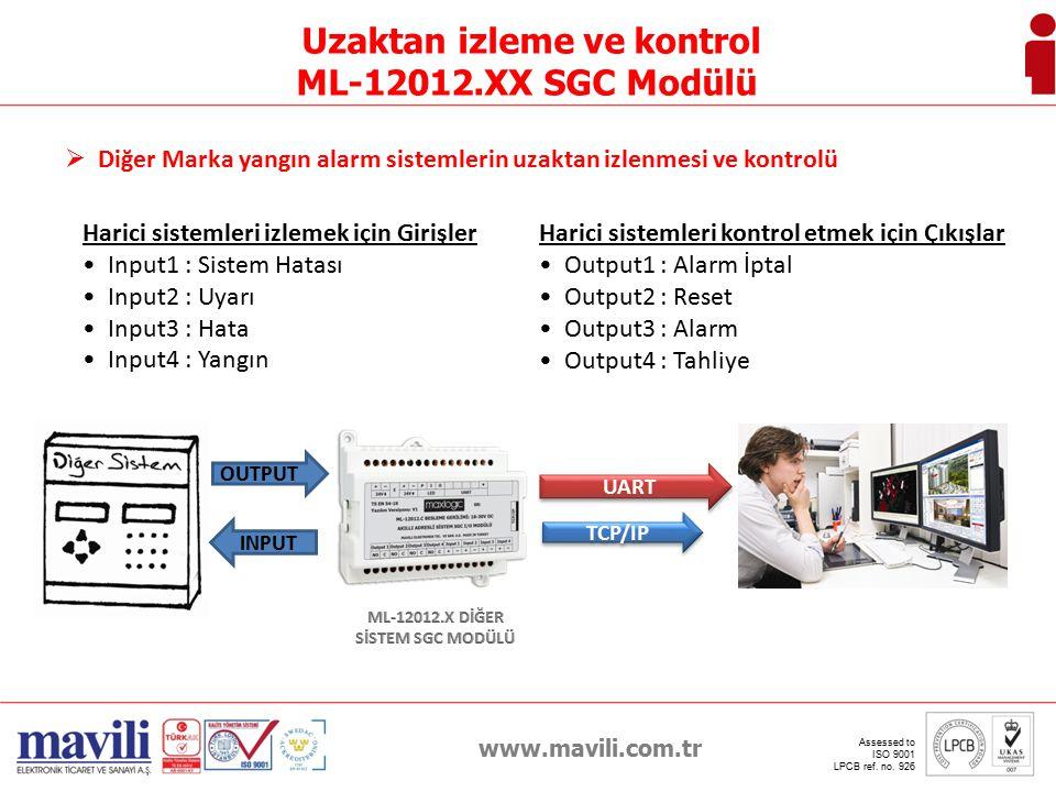 www.mavili.com.tr Assessed to ISO 9001 LPCB ref. no. 926 E-Mail Gönderme INTERNET
