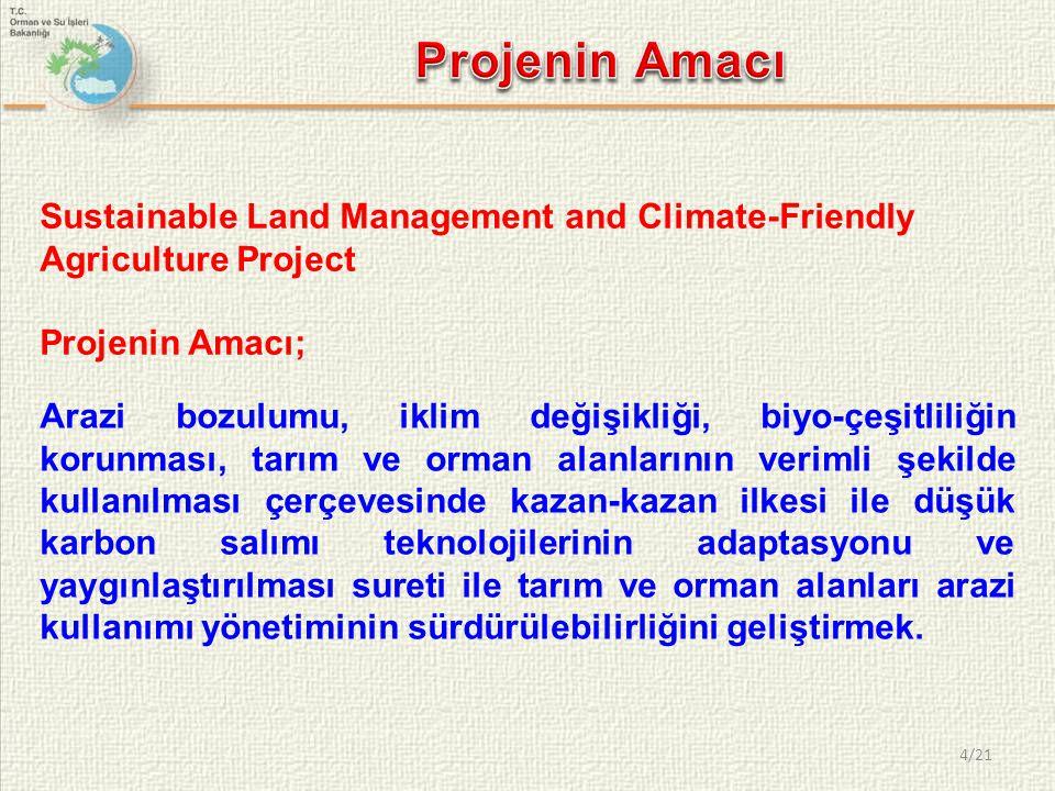 4/21 Arazi bozulumu, iklim değişikliği, biyo-çeşitliliğin korunması, tarım ve orman alanlarının verimli şekilde kullanılması çerçevesinde kazan-kazan ilkesi ile düşük karbon salımı teknolojilerinin adaptasyonu ve yaygınlaştırılması sureti ile tarım ve orman alanları arazi kullanımı yönetiminin sürdürülebilirliğini geliştirmek.