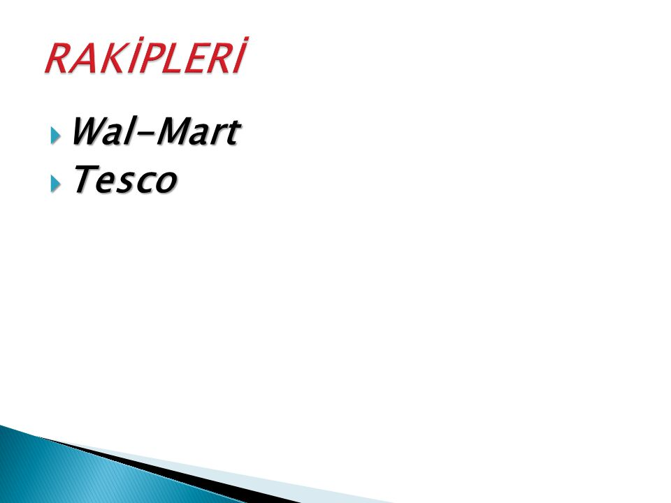  Wal-Mart  Tesco