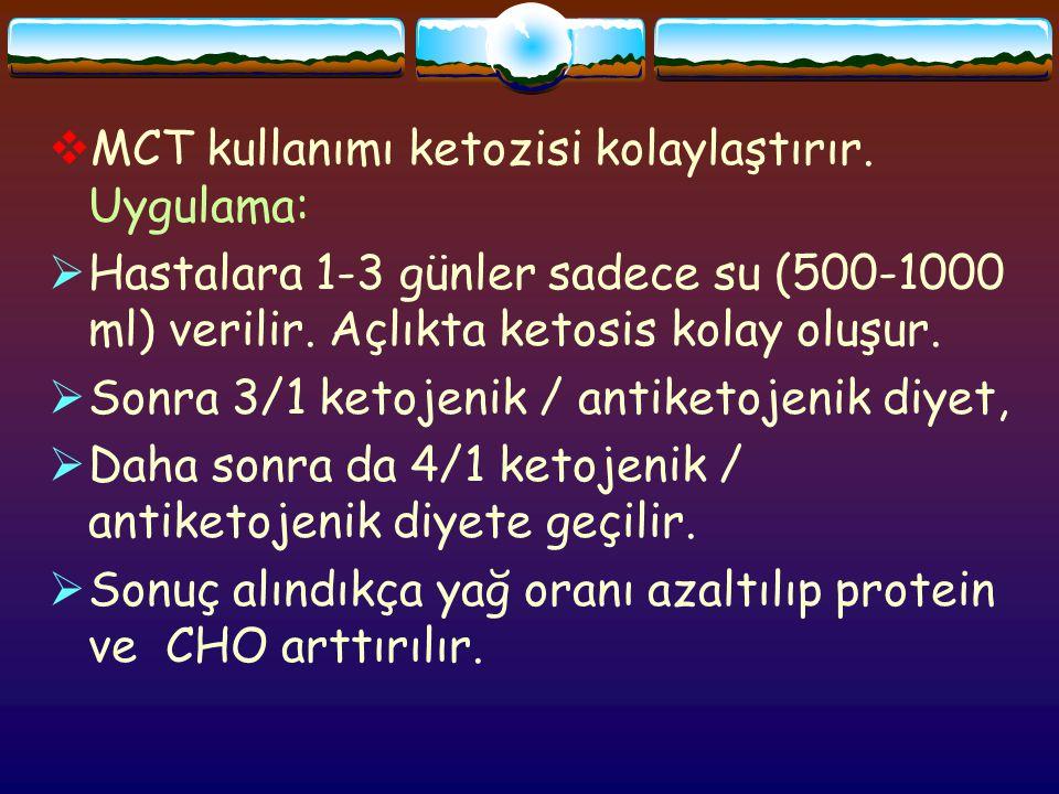  MCT kullanımı ketozisi kolaylaştırır.