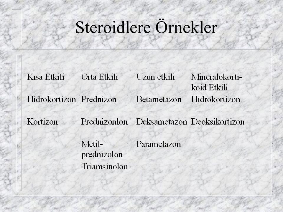 Steroidlere Örnekler