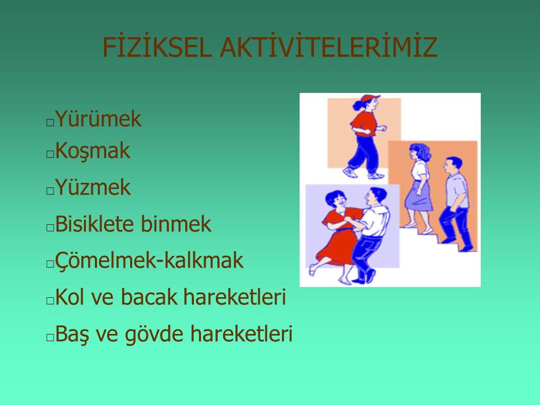 Çocukluk dönemi hareketli yaşamın; bu dönemde kazanılan fiziksel aktivite alışkanlığının yaşam boyu sürdürülmesindeki olumlu etkisi olduğu kabul edilmektedir.