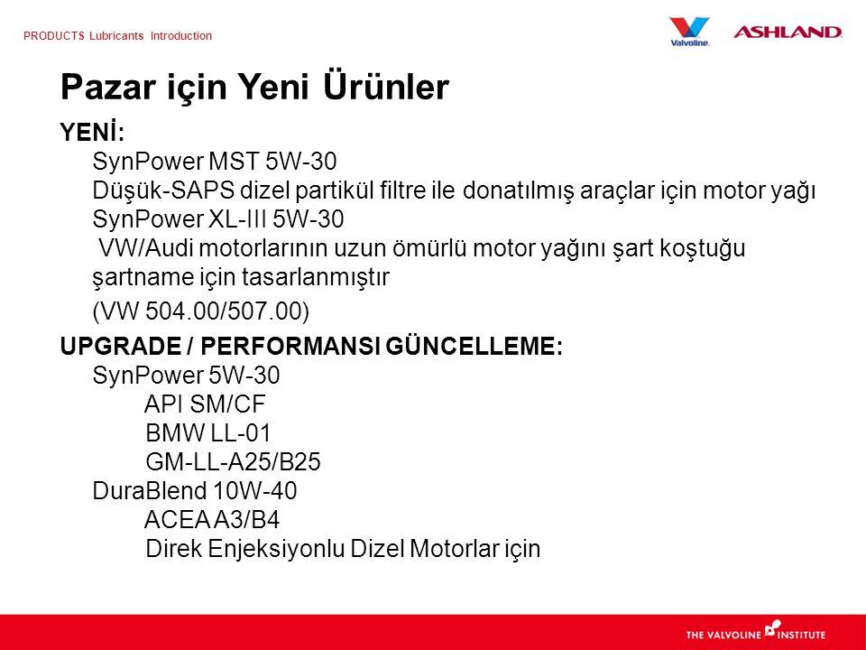 PRODUCTS Lubricants Introduction Valvoline, daha iyi bir motor bakımını basitleştiriyor 1.Şartname Notu 2.Güçlü Ürün İsmi – Alt Marka 3.Güçlü Marka Gö
